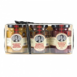 Trio of Rabbie's Burnie Mustard, Scottish Seasoning & Haggis Sauce
