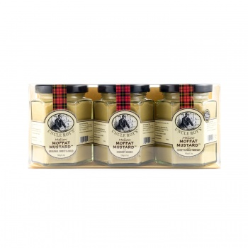 Trio of Original Moffat, Hickory Smoked & Honey and Whisky Mustards
