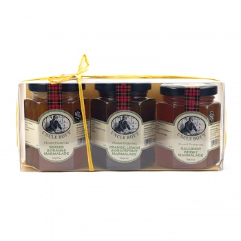 Trio of Whisky and Orange, Ginger and Orange & 3 Fruit Marmalades
