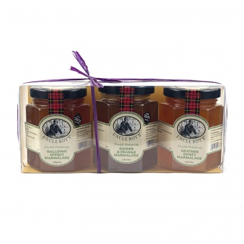 Trio of Whisky & Orange Marmalade, Ginger & Orange Marmalade & Heather Honey